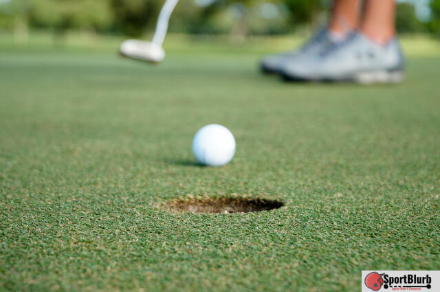 Golf Ball Bounces Out Of The Hole