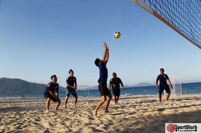 Kick The Ball In Volleyball