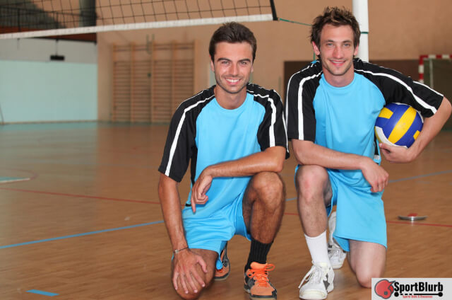 Short Volleyball Players